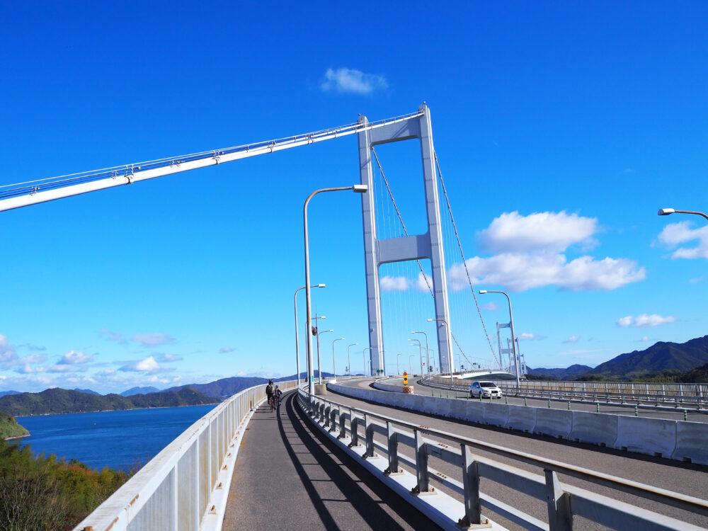 しまなみ海道 来島海峡大橋 今治側