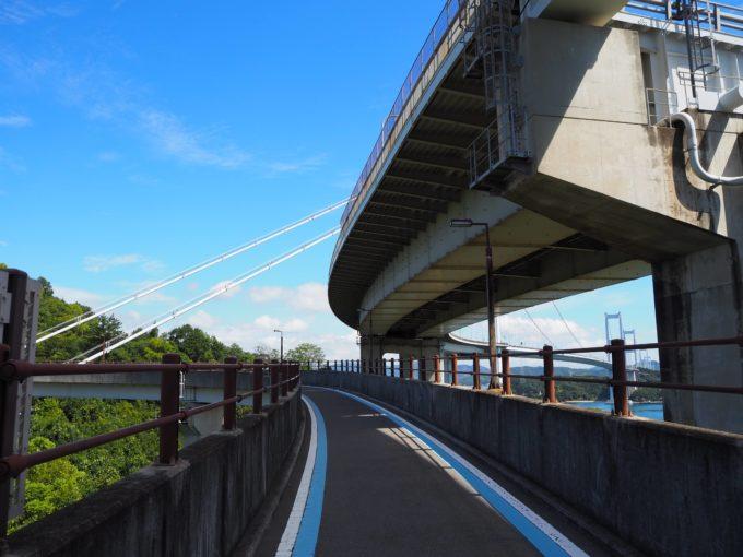 しまなみ海道 来島海峡大橋に向かう自転車道