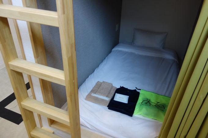 しまなみ海道大三島 サイクリストホテル IKIDANE CYCLIST HOSTEL & CAFE SHIMANAMIのカプセル部屋拡大