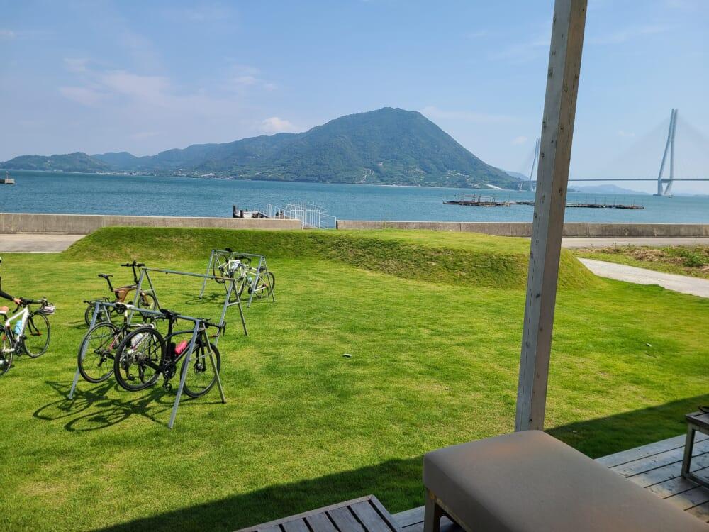 しまなみ海道大三島 WAKKA(わっか)広場の自転車ラック