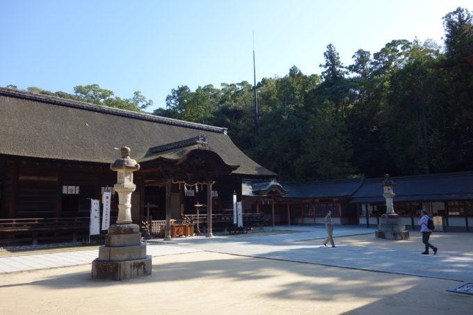 しまなみ海道大三島 大山祗神社(おおやまずみじんじゃ)の本殿全景