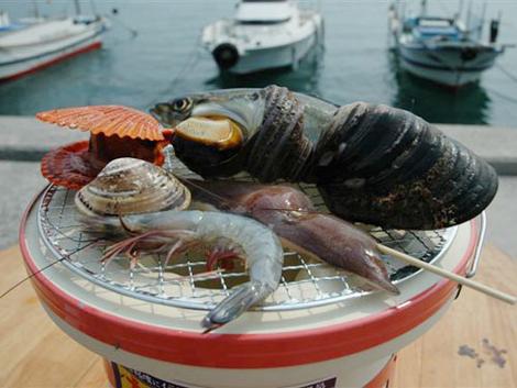 【よしうみいきいき館】海鮮バーベキュー|しまなみ海道大島で海を見ながら海鮮焼きを楽しめるスポット!