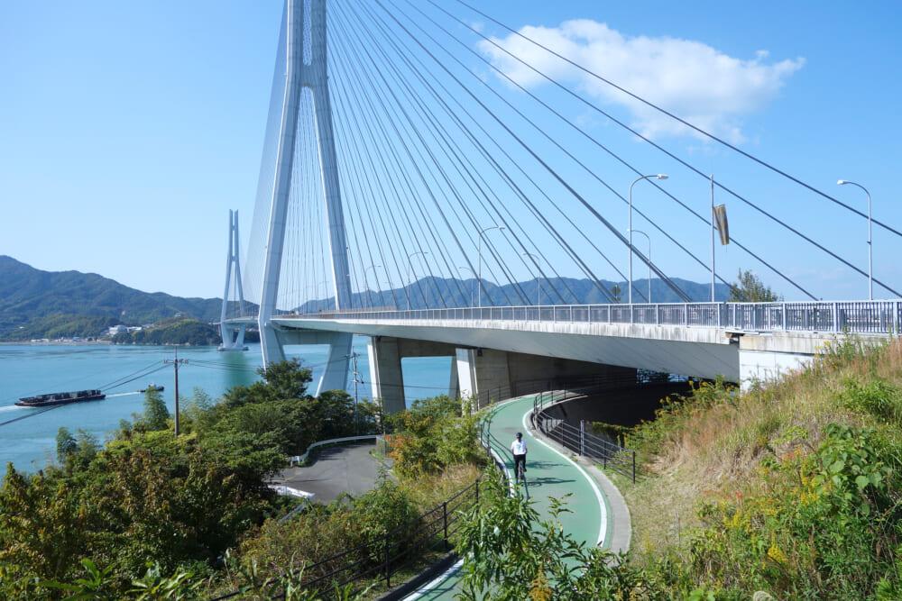 しまなみ海道生口島と大三島を結ぶ多々羅大橋