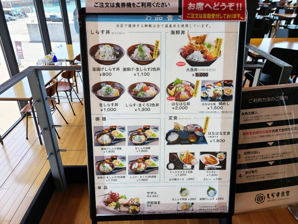 佐田岬はなはな しらす食堂の景色