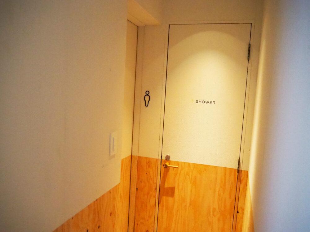 ソイル瀬戸田のシャワールームとトイレ