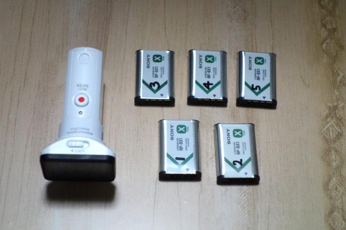 SONYアクションカム HDR-AS300と予備バッテリー