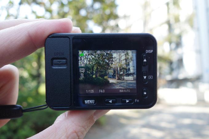 ソニーのデジタルカメラRX-0 操作モニター