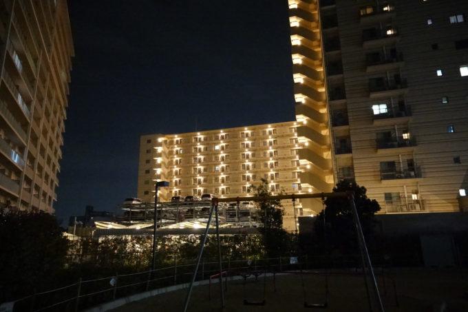 ソニーのデジタルカメラRX-0で撮影した夜景写真