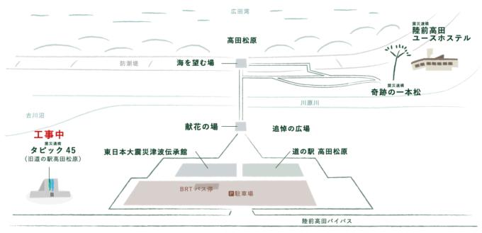 高田松原津波復興祈念公園 園内地図