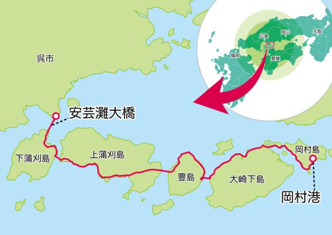 とびしま海道の地図