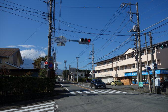 2020東京オリンピックロードレースコース 富士山麓周回区間 玉穂支所入口