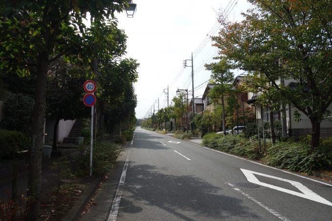 2020東京オリンピックロードレース 稲城五中入口過ぎの住宅街