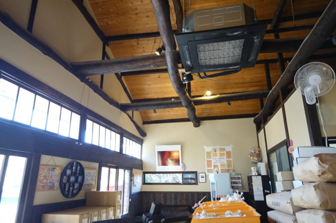 つくばりんりんロード 松屋製麺所の大正建築の屋根
