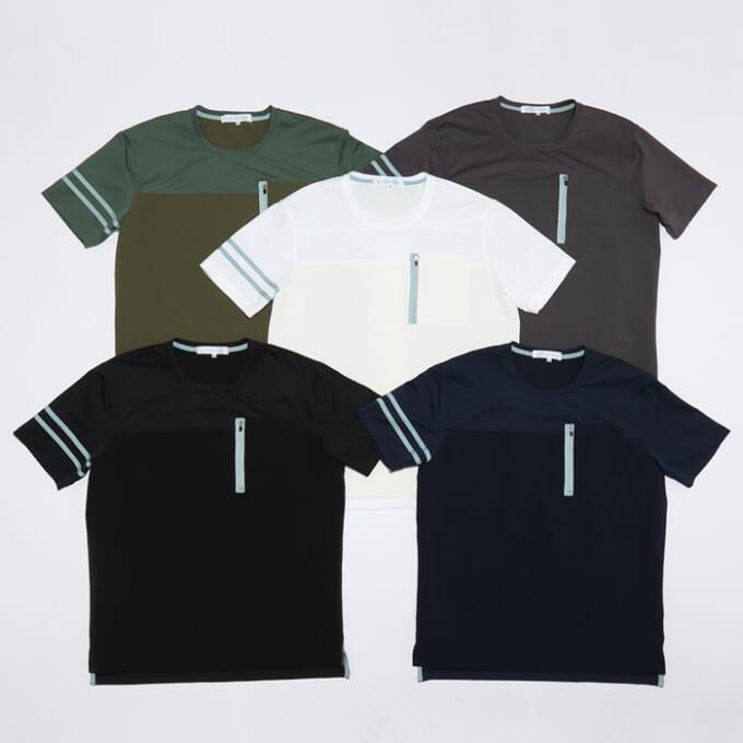 Winner ストレッチ×カットソー切り替えTシャツ カラー展開