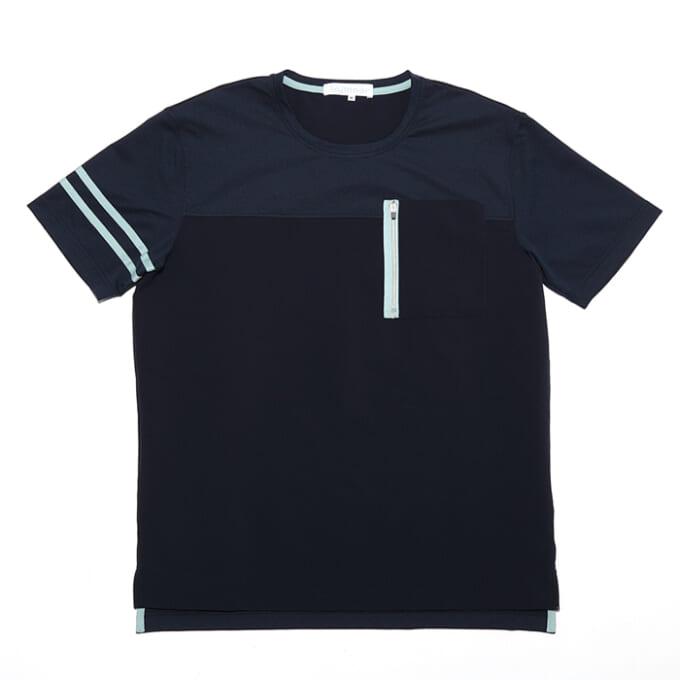 レビュー「Winner ストレッチ布帛(ふはく)×カットソーTシャツ」|生地の組み合わせがおしゃれなスポーツシャツ