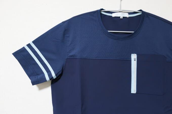 Winner ストレッチ×カットソー切り替えTシャツ 右袖リフレクター
