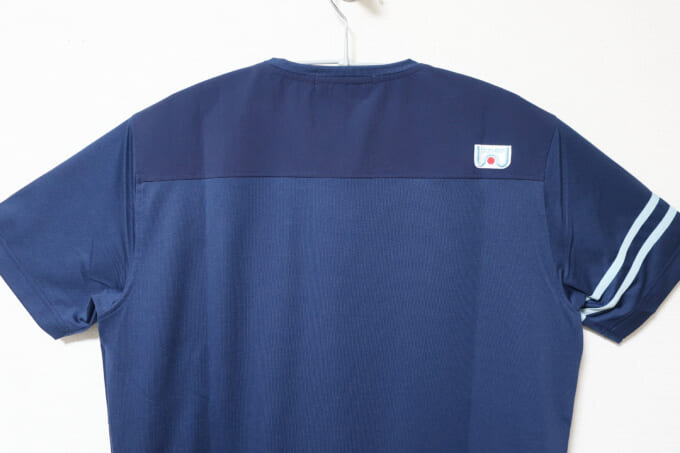 Winner ストレッチ×カットソー切り替えTシャツ 背中のリフレクター