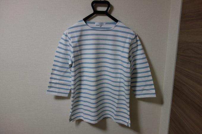 Winnerウィナー コットンボーダー7分袖Tシャツ 正面