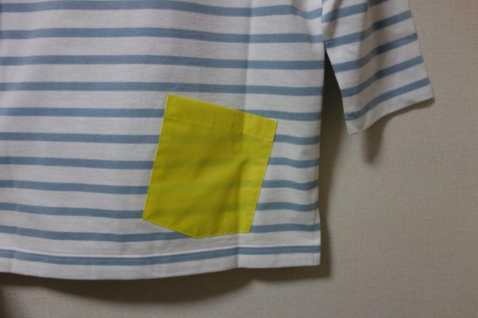 Winnerウィナー コットンボーダー7分袖Tシャツ バックポケット
