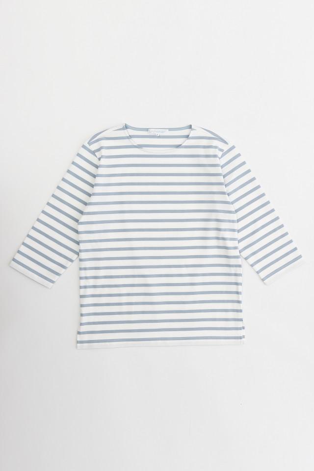 Winnerウィナー コットンボーダー7分袖Tシャツ