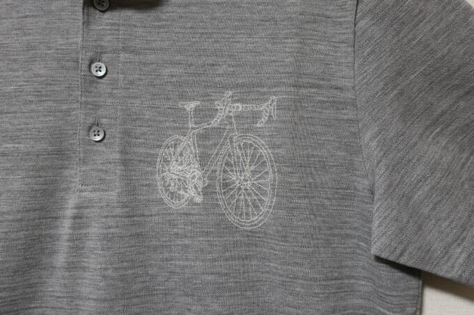winner 台衿ポロシャツ 胸のロードバイクロゴ