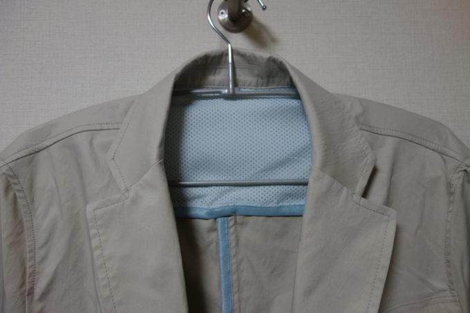 サイクルウェアwinner テーラー衿ジャケット(ベンチレーション付き) 首筋のメッシュ生地