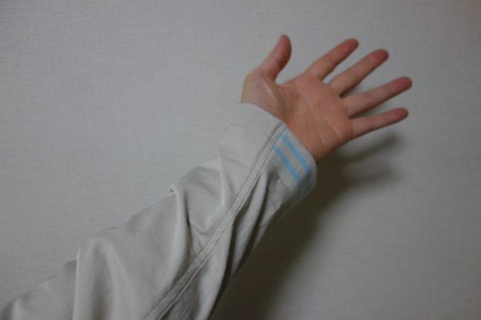 サイクルウェアwinner テーラー衿ジャケット(ベンチレーション付き) 手首部分のリブ(ゴム)仕上げ
