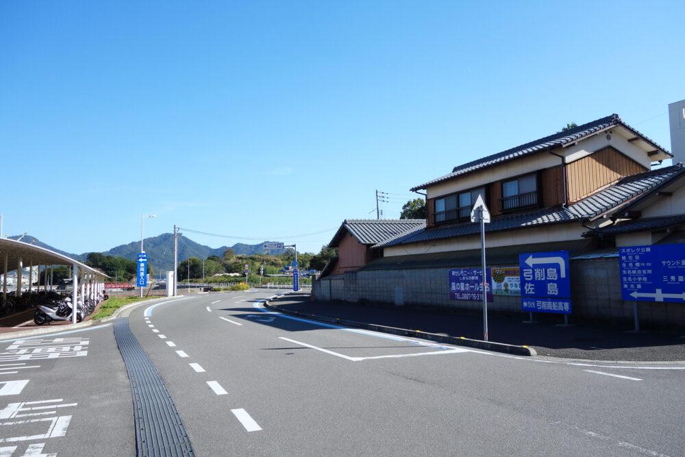 ゆめしま海道生名島 立石港の景色